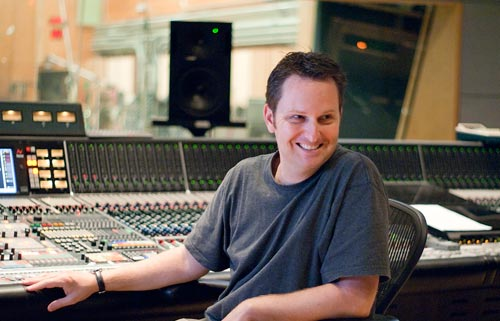 John Rodd recording an orchestra at 20th Century Fox's Newman scoring stage. John was on staff there from 1997 to 2004 before going freelance.