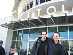 Cody Westheimer and John Rodd outside of Capitol Studios