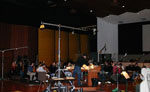 "Recording the strings for ""The Legend of El Charro"" at the Eastwood Warner Bros Scoring Stage"