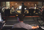 John recording at Entourage Studios - part of the orchestra is visible in the background
